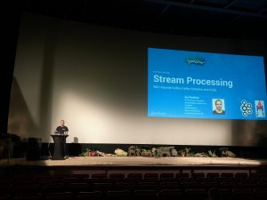 Kai Speaking at JavaLand 2018 about Kafka Streams and KSQL