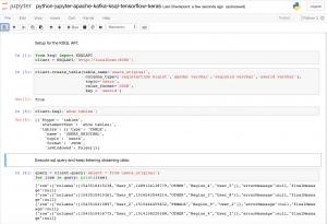 Apache Kafka + KSQL + Python + Jupyter Notebook