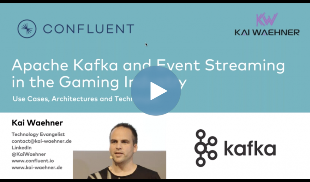 Kafka and Big Data Streaming Use Cases in the Gaming Industry