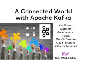 A Connected World with Apache Kafka for Smart City Connected Vehicles Telco Cloud Mobility Services