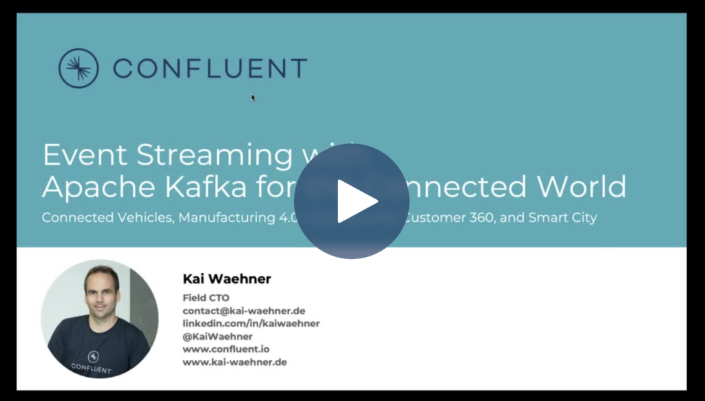 Apache Kafka for the Connected World in Automotive Manufacturing Mobility Services Smart City