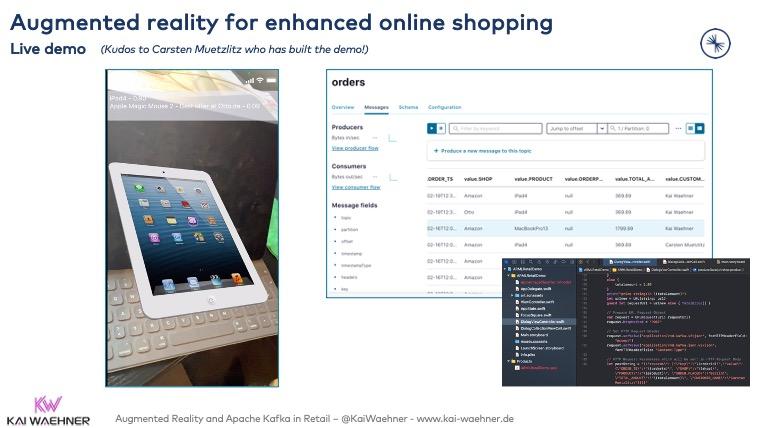 Augmented Reality Retail Live Demo with Apache Kafka