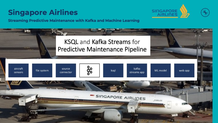 Singapore Airlines leveraging Apache Kafka Connect Streams ksqlDB for Predictive Maintenance