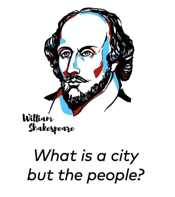 William Shakespeare - What is a city but the people